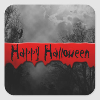 Happy Halloween Bloody Haunted Sticker