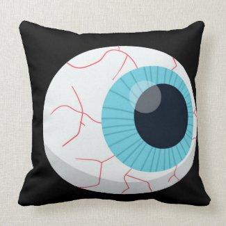happy Halloween blue eye Throw Pillow