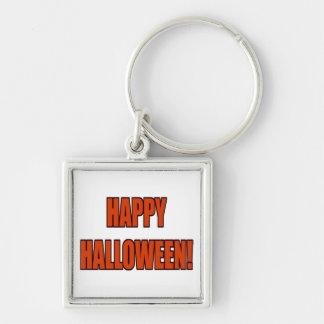 Happy Halloween Bold Orange Black Text Image Key Chains