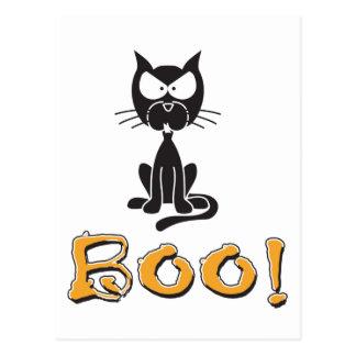 Happy Halloween Boo Black Cat Post Cards