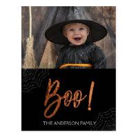 Happy Halloween Boo! Halloween Photo Card