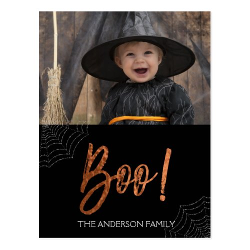 Happy Halloween Boo Halloween Photo Card