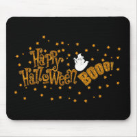 Happy Halloween Boo Mouse Pad