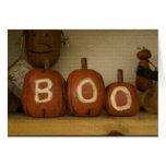 Happy Halloween Boo pumpkin card