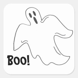 Happy Halloween Boo Spooky Ghost Stickers