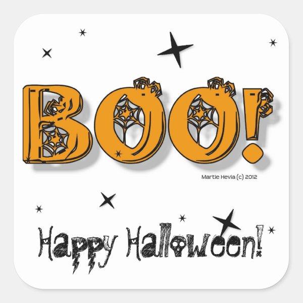 Happy Halloween Boo! Sticker