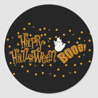 Happy Halloween Boo Round Sticker