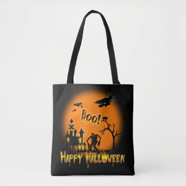 Halloween Themed Happy Halloween -Boo Trick or Treat Party Tote Bag