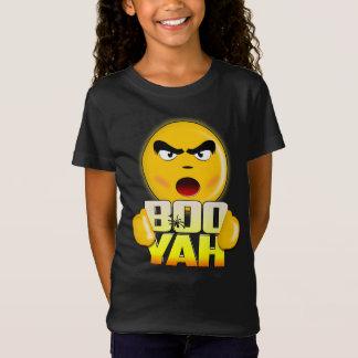 Happy Halloween Boo Yah - Funny Emoji T-shirt