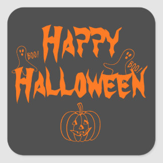 Happy Halloween Booing Ghosts Stickers
