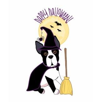 Happy Halloween Boston Terrier Witch shirt
