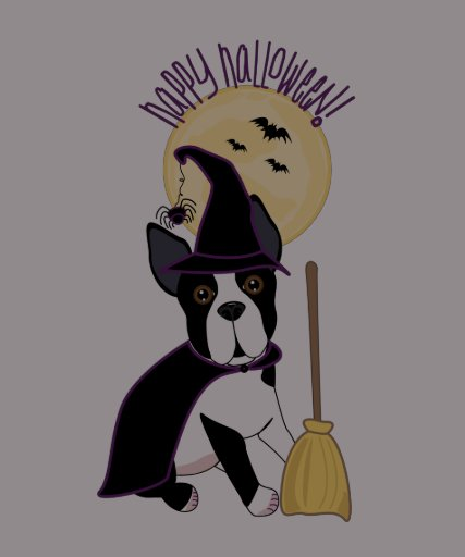 Happy Halloween Boston Terrier Witch Tshirts