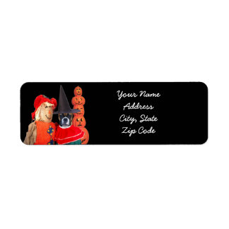 Happy Halloween boxer dog address labels