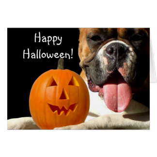 Happy Halloween Boxer Greeting card