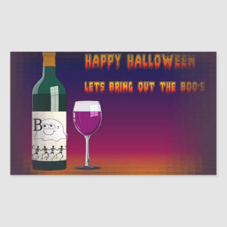 Happy Halloween: Bring Out the Boo's Rectangular Sticker