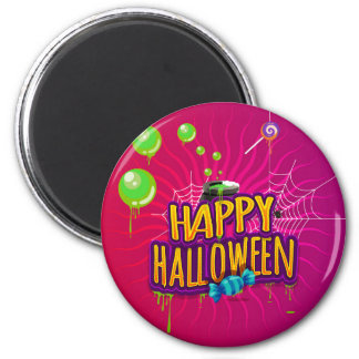 Happy Halloween Bubbling Candy Magnet