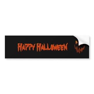 Happy Halloween Bumper Sticker bumpersticker
