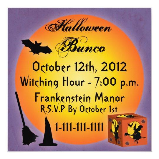 Happy Halloween Bunco Invitation Zazzle Com