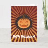 Happy Halloween Bursting Pumpkin 2 card