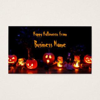 Happy halloween business card