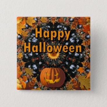 Halloween Themed Happy Halloween Button