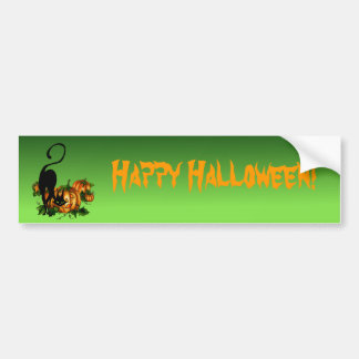HAPPY HALLOWEEN by SHARON SHARPE Bumper Sticker
