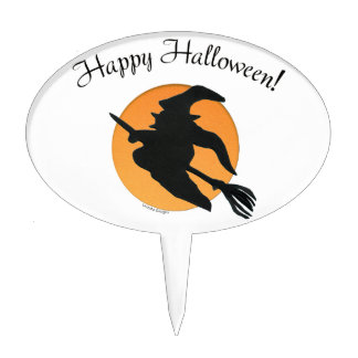 Happy Halloween Oval Cake Toppers