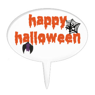 Happy Halloween Oval Cake Pick