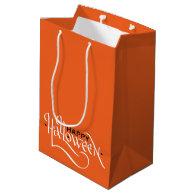 HAPPY HALLOWEEN CALLIGRAPHY | PARTY GIFT BAG MEDIUM GIFT BAG