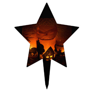 Happy Halloween Candles Cake Topper
