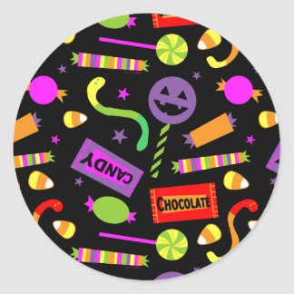 Happy Halloween Candy Classic Round Sticker