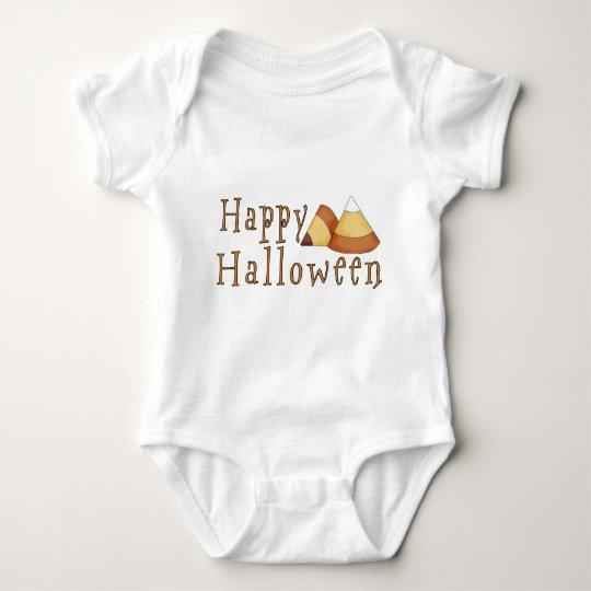 Happy Halloween Candy Corn Baby Bodysuit