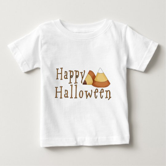 Happy Halloween Candy Corn Baby T-Shirt