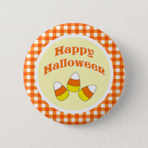 Happy Halloween Candy Corn Button