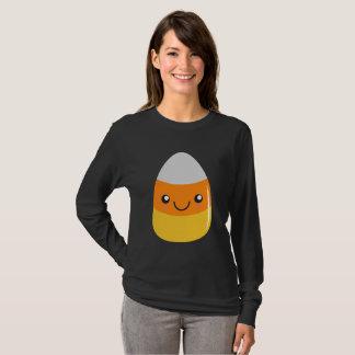 Happy Halloween Candy Corn Emoji T-Shirt