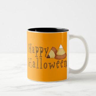 Happy Halloween Candy Corn Two-Tone Coffee Mug