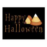 Happy Halloween Candy Corn Post Card