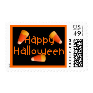 Happy Halloween Candy Corn Postage