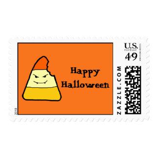 Happy Halloween Candy Corn Postage