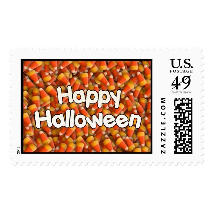 Happy Halloween Candy Corn Stamp