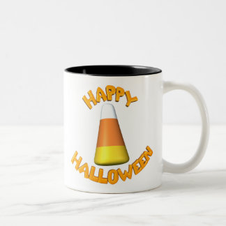 Happy-Halloween-Candy-Corn Two-Tone Coffee Mug