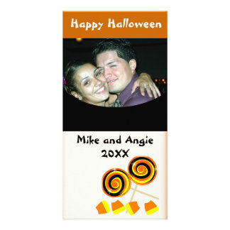 Happy Halloween Candy Greetings Photo Card