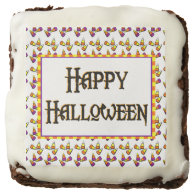 Happy Halloween Candy Pattern Brownie