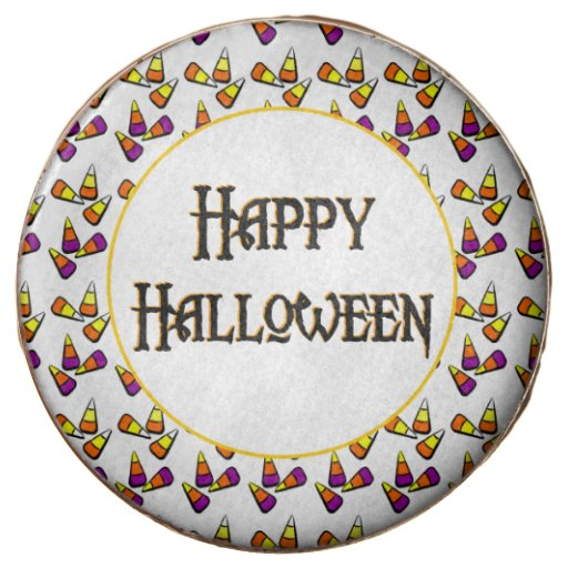 Happy Halloween Candy Pattern Oreo Cookies Chocolate Dipped Oreo