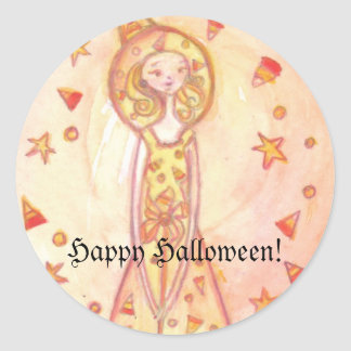 Happy Halloween! Candy Witch Stickers