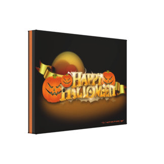 Happy Halloween Canvas Canvas Print
