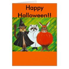 Happy Halloween Card at Zazzle