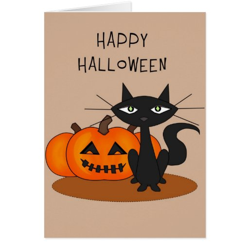 Candid image pertaining to happy halloween cards printable