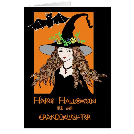 happy halloween card for our granddaughter