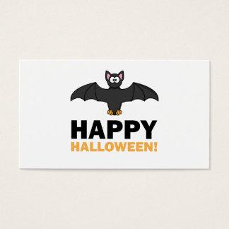 Happy Halloween Cartoon Bat Business Card